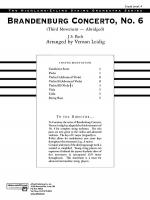 Brandenburg Concerto No. 6, 3rd Movement (Abridged): Score Sheet Music