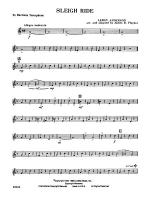 Sleigh Ride: E-flat Baritone Saxophone Sheet Music