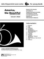 America, the Beautiful: Score Sheet Music