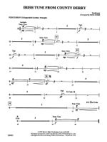 Irish Tune from County Derry: 2nd Percussion Sheet Music
