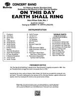 On This Day Earth Shall Ring (Holst Winter Suite, Mvt. I): Score Sheet Music