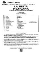 La Fiesta Mexicana (A Mexican Folk Song Symphony for Concert Band): Score Sheet Music