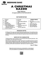 A Christmas Kazoo: Score Sheet Music