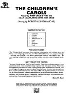 The Children's Carols: Score Sheet Music