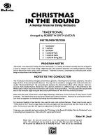Christmas in the Round (A Holiday Prism for String Orchestra): Score Sheet Music
