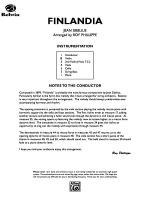 Finlandia: Score Sheet Music
