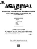Belwin Beginning String Orchestra Kit #1: Score Sheet Music