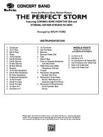 The Perfect Storm (from the Warner Bros. Motion Picture): Score Sheet Music