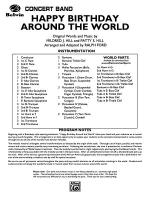 Happy Birthday Around the World: Score Sheet Music