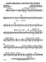 Happy Birthday Around the World: 1st Percussion Sheet Music