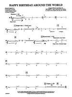 Happy Birthday Around the World: 2nd Percussion Sheet Music