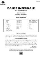 Danse Infernale: Score Sheet Music