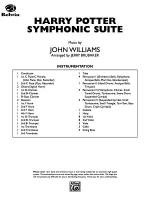 Harry Potter Symphonic Suite: Score Sheet Music