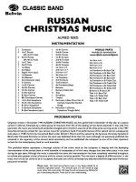 Russian Christmas Music: Score Sheet Music