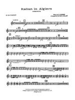 Italian in Algiers: 2nd B-flat Cornet Sheet Music