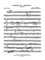 Italian in Algiers: String Bass Sheet Music