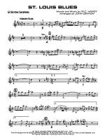St. Louis Blues: E-flat Baritone Saxophone Sheet Music
