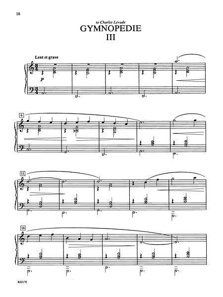 Satie: Three Gymnopedies Sheet Music