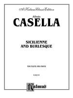Casella: Sicilienne and Burlesque Sheet Music