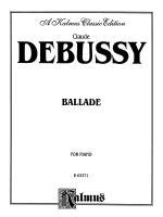 Debussy: Ballade Sheet Music