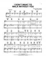 I Don't Want To Walk Without You Sheet Music