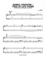 Animal Kingdom - Tree Of Life Theme Sheet Music