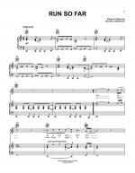 Run So Far Sheet Music