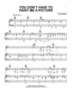 You Don't Have To Paint Me A Picture Sheet Music