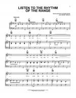 Listen To The Rhythm Of The Range Sheet Music