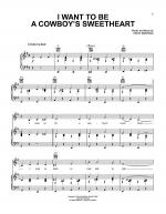 I Want To Be A Cowboy's Sweetheart Sheet Music