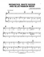 Rednecks, White Socks And Blue Ribbon Beer Sheet Music
