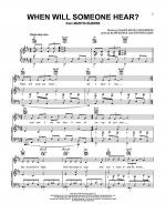 When Will Someone Hear? Sheet Music