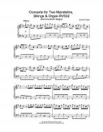 Concerto for Two Mandolins, Strings & Organ RV532 (1st Movement: Allegro) Sheet Music