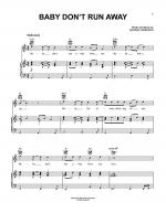 Baby Don't Run Away Sheet Music