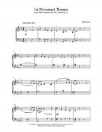 1st Movement Themes Piano Concerto No.3 Op.37 Sheet Music