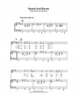 Hearts And Bones Sheet Music