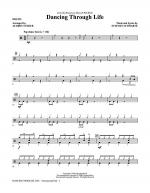 Dancing Through Life - Drums Sheet Music