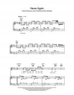 Never Again Sheet Music