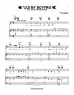 He Vas My Boyfriend Sheet Music