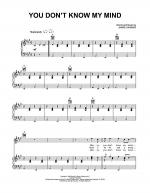 You Don't Know My Mind Sheet Music