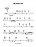 I Will Be Here Sheet Music