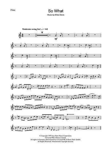 So What Sheet Music