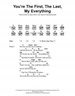 You're The First, The Last, My Everything Sheet Music