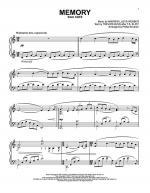 Memory Sheet Music