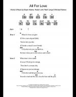 All For Love Sheet Music