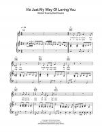 It's Just My Way Of (Loving You) Sheet Music