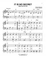 It Is No Secret (What God Can Do) Sheet Music