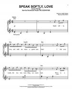 Speak Softly, Love (Love Theme) Sheet Music