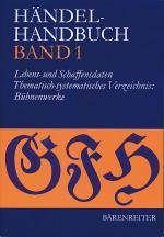 Handel-Handbuch Band 1 Sheet Music
