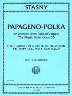 Papageno-Polka, on Motives from Mozart's The Magic Flute, Opus 55 for Clarinet in A (or Flute, or  Sheet Music